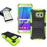 Hybrid Case 2teilig Grün für Samsung Galaxy S7 G930 G930F + Hartglas