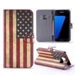Schutzhülle Wallet Muster 10 für Samsung Galaxy S7 Plus