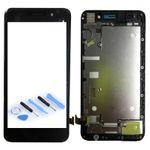 Display Einheit LCD mit Rahmen Kompletteinheit für Huawei Y6 Schwarz