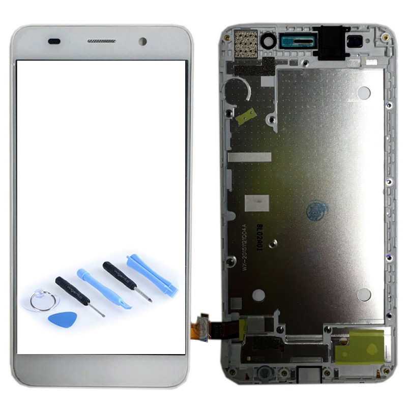 Replacement Full Display LCD WITH FRAME COMPLETE FOR HUAWEI Y6 White ...
