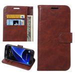 Tasche Wallet Premium Braun für Galaxy S7 G930 G930F