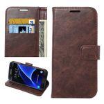 Tasche Wallet Premium Coffee für Galaxy S7 G930 G930F