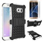 Hybrid Case 2teilig Weiß für Samsung Galaxy S7 Edge G935F + Panzerfolie