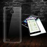 Silikoncase Transparent + 0,3 H9 Hartglas für Huawei P9 Premium / Plus Tasche Hülle Cover
