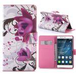 Tasche Wallet Premium Muster 3 für Huawei P9 Lite Hülle Case Cover Etui