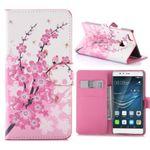 Tasche Wallet Premium Muster 6 für Huawei P9 Lite Hülle Case Cover Etui