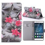 Tasche Wallet Premium Muster 63 für Huawei P9 Lite Hülle Case Cover Etui