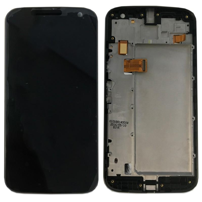 Display LCD Komplett Einheit mit Rahmen für Motorola Moto G4 2016 ...
