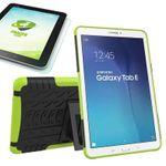 Hybrid Outdoor Tasche Grün für Samsung Galaxy Tab E 9.6 SM T560 + 0.4 Hartglas