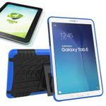 Hybrid Outdoor Tasche Blau für Samsung Galaxy Tab E 9.6 SM T560 + 0.4 Hartglas