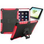 Hybrid Outdoor Schutzhülle Rot für iPad Air 2 Tasche + 0.4 H9 Panzerglas