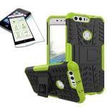 Hybrid Case 2teilig Grün für Huawei Honor 8 + Panzerglas Tasche Hülle Cover