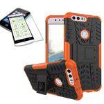 Hybrid Case 2teilig Orange für Huawei Honor 8 + Panzerglas Tasche Hülle Cover