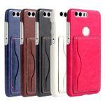 Backcover Tasche mit Kartenhalter Weiß für Huawei Honor 8 Hülle Case Etui aufstellbar Bild 3