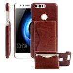 Backcover Tasche mit Kartenhalter Braun für Huawei Honor 8 Hülle Case Etui aufstellbar