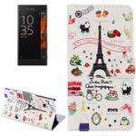 Tasche Wallet Premium Muster 14 für Sony Xperia XZ F8331 Bookcover Hülle Case