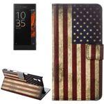 Tasche Wallet Premium Muster 10 für Sony Xperia XZ F8331 Bookcover Hülle Case