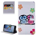 Tasche Wallet Premium Muster 12 für Huawei Honor 5A / Y6 2 II Bookcover Hülle Case