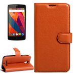 Tasche Wallet Premium Braun für ZTE Blade A110 L110