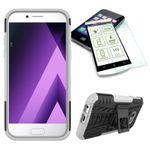 Hybrid Case 2teilig Weiß für Samsung Galaxy A3 2017 A320F + Hartglas