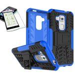 Hybrid Case 2teilig Blau für Huawei Nova Plus + Panzerglas Tasche Hülle Cover