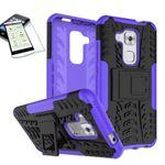 Hybrid Case 2teilig Lila für Huawei Nova Plus + Panzerglas Tasche Hülle Cover