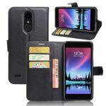 Tasche Wallet Premium Schwarz für LG K10 2017 Schutz Hülle Case Cover Etui Neu