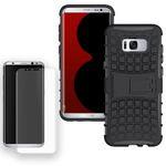 Hybrid Case Tasche 2teilig Schwarz für Samsung Galaxy S8 Plus G955 G955F + Panzerfolie