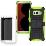 Hybrid Case Tasche 2teilig Grün für Samsung Galaxy S8 Plus G955 G955F + Panzerfolie