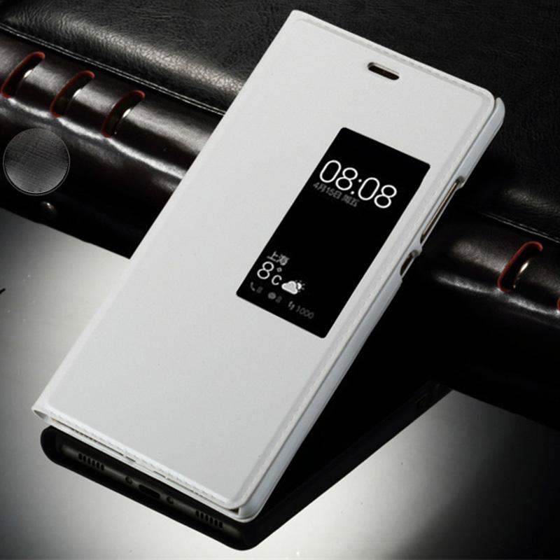Booktasche Flip Window Weiß für Huawei P10 Plus Tasche Cover Hülle Case Etui Neu