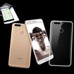 Silikoncase Transparent + 0,3 H9 Hartglas für Huawei Honor 8 Pro