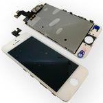 All in One Display LCD Komplett Ersatz Einheit Touch Panel für Apple iPhone 5S Weiß (ohne Homebutton)