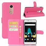 Tasche Wallet Premium Pink für Wiko Upulse Lite Schutz Hülle Case Cover Etui Neu