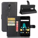 Tasche Wallet Premium Schwarz für Wiko Upulse Schutz Hülle Case Cover Etui Neu