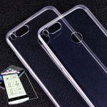Silikoncase Transparent + 0,3 H9 Hartglas für Xiaomi Mi 5X Mi A1 Tasche Hülle Cover