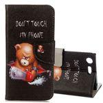 Tasche Wallet Motiv 21 für Sony Xperia XZ1 G8341 G8342 Hülle Case Etui Cover Schutz
