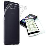 Silikoncase Transparent + 0,3 H9 Hartglas für ASUS Zenfone 4 Max 5.5 ZC554K Tasche Hülle Cover