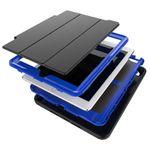 Mehrteilige Hybrid Outdoor Schutzhülle Case Pink für Apple iPad Air 2 Tasche Wake UP 3folt Bild 3