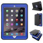 Mehrteilige Hybrid Outdoor Schutzhülle Case Dunkelblau für Apple iPad Pro 10.5 2017 Tasche Wake UP 3folt
