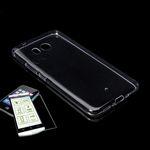 Silikoncase Transparent + 0,3 H9 Hartglas für HTC U11 Life Tasche Hülle Cover