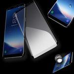 4D Full Premium 0,3 mm gebogenes Hart Glas Schwarz Folie für Samsung Galaxy S9 G960F