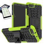 Hybrid Case 2teilig Grün für Huawei Honor View 10 / V10 + Hartglas Tasche Hülle Cover