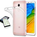 Silikoncase Transparent + 0,3 H9 Hartglas für Xiaomi Redmi 5 Plus Tasche Hülle Cover