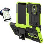 Hybrid Case 2teilig Grün für Xiaomi Redmi 5 Plus + Hartglas Tasche Hülle Cover