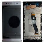 Sony Display LCD Komplett Einheit mit Rahmen für Xperia XA2 Ultra Silber Ersatzteil