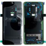 Samsung GH82-15652A Akkudeckel Deckel für Galaxy S9 Plus G965F + Klebepad Schwarz Midnight Black Neu
