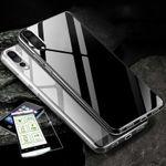 Silikoncase Transparent + 0,3 H9 Hart Glas für Huawei P20 Lite Tasche Hülle Cover