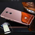 Mirror / Spiegel Alu Bumper 2 teilig Pink + 0,3 mm H9 Hartglas für Sony Xperia XA2