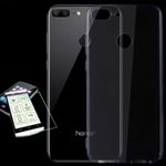 Silikoncase Transparent + 0,3 H9 Hart Glas für Huawei Honor 9 Lite Tasche Hülle Cover