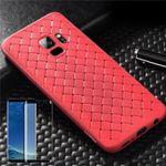 Für Samsung Galaxy S9 Original ROCK Silikon Case Tasche Hülle Rot + 4D H9 Glas